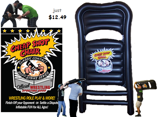 wrestling chair, Cheap Shot Chair, Wrestling toys, wrestling, Wrestling gift, wrestling present, wwe, tna. gfw. roh