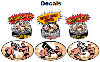Wrestling Stickers, Decals