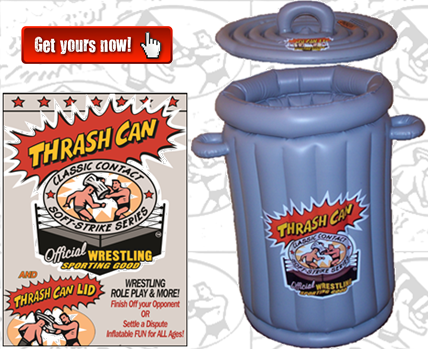 Wrestling Trash Can, Sporting Goods, Wrestling Toy, Wrestling Water Float, wwe, gfw, roh, tna