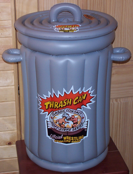 Thrash Can, wrestling trash can, toys, games